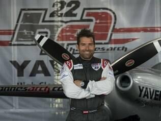 Piloto austríaco Hannes Arch, atual líder da Air Race e que falou sobre voltar a correr no Brasil