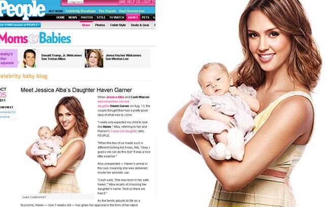 Jessica Alba apresentou sua filha à People