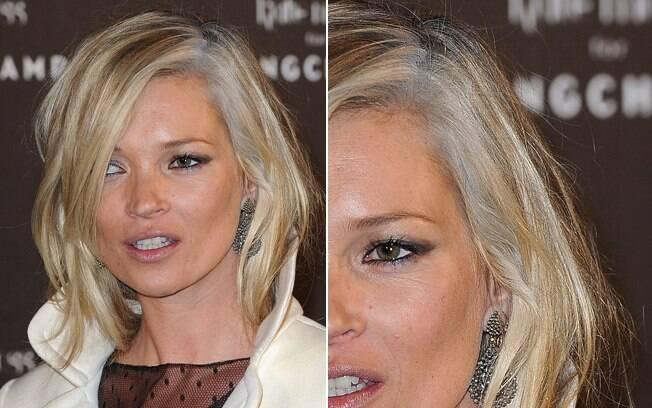 Kate Moss deixou os cabelos brancos por um tempo, mas vive mudando a cor, privilégio de quem se entrega à tintura