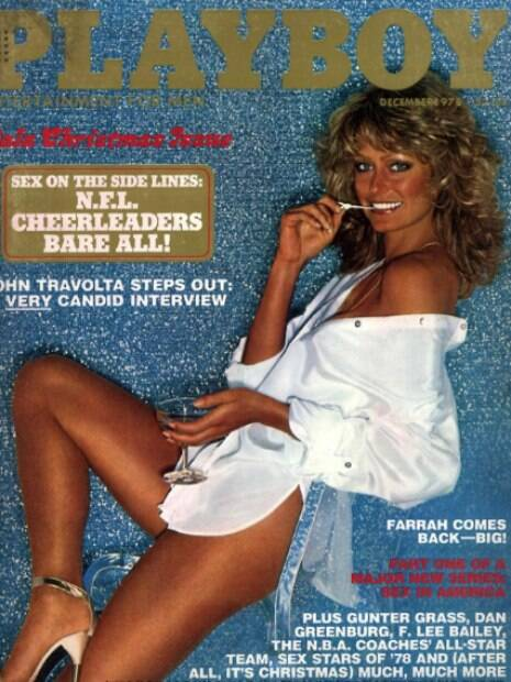 Farrah Fawcett foi capa da Playboy americana em 1978
