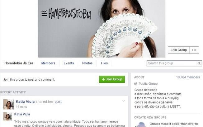 Página no Facebook usou a imagem da cartunista Laerte para a campanha #ahomofobiaé como foto de abertura
