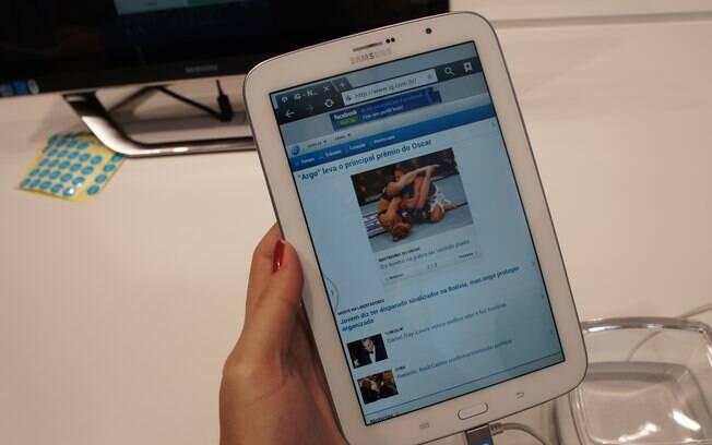 Galaxy Note 8.0 é versão do tablet da Samsung para competir com iPad Mini