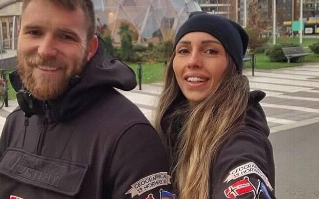 Aleksandar Katai, ao lado de sua esposa