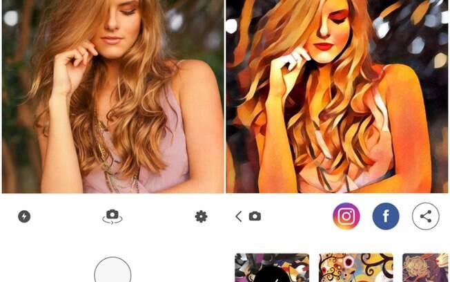 Comparação entre imagem original e editada mostra as mudanças visíveis oferecidas pelo Prisma