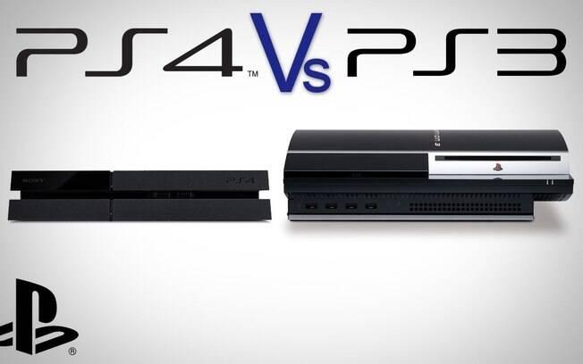 PS3 (direita) e PS4 (esquerda)