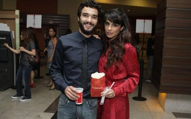 Caio Blat e Maria Ribeiro na pré-estreia de