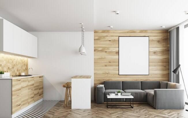 Sala, cozinha, quarto.. A madeira pode ser usada em diversos ambientes e o painel de madeira na decoração faz sucesso