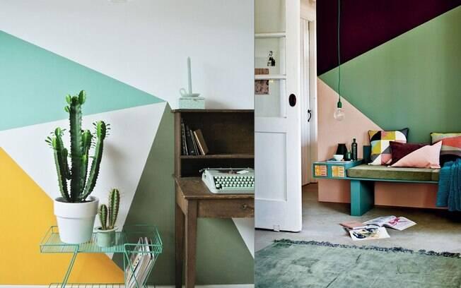 Apostar em grafismos com combinação de cores é uma boa solução para personalizar seu ambiente
