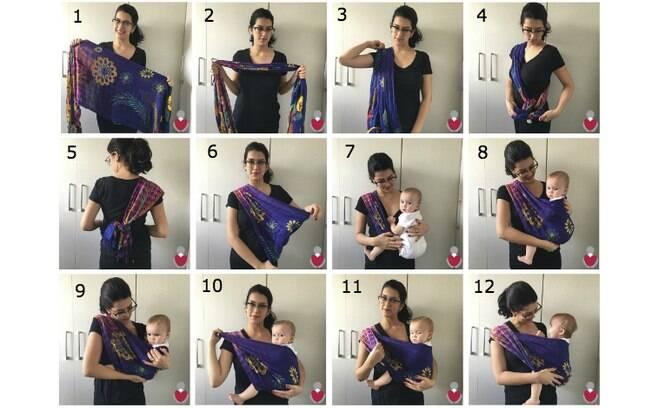 A amarração 'Lateral Simples' é indicada para bebês com mais de 6 meses