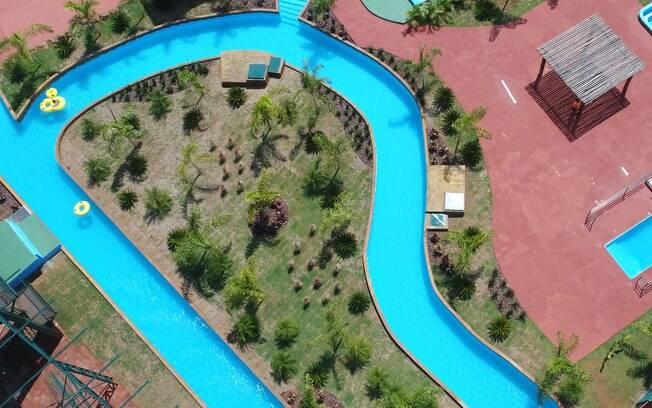 O Parque Águas de Olímpia é o menor dos parques aquáticos da cidade