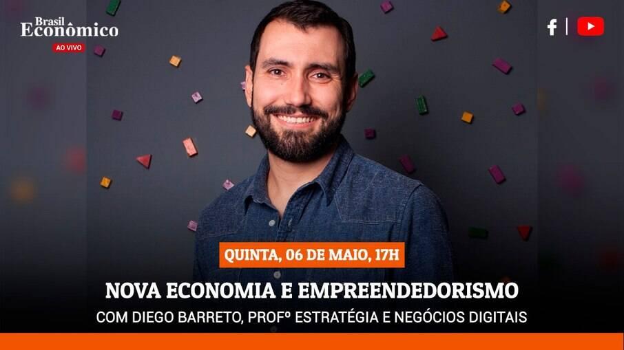 Barreto será o entrevistado da live do Brasil Econômico ao Vivo desta quinta-feira (6)