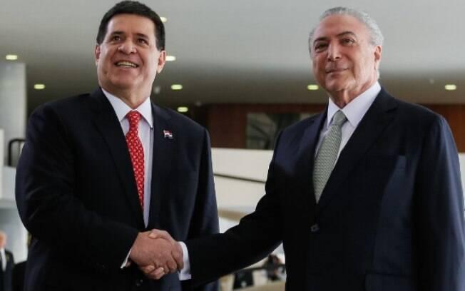 Presidente brasileiro recebeu homólogo para visita oficial, mas a 'gafe de Temer' voltou a assombrar o peemedebista
