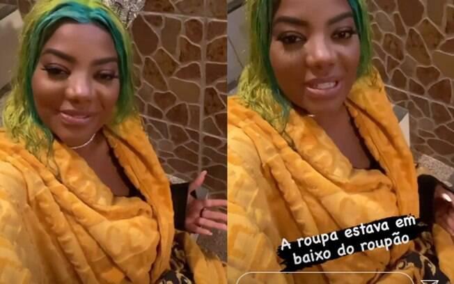 Ludmilla usa roupão de R$  mil pra gravação de clipe