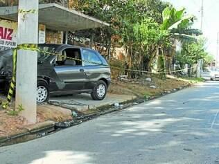 Acidente em ponto de ônibus deixou duas crianças feridas no bairro Nova Baden
