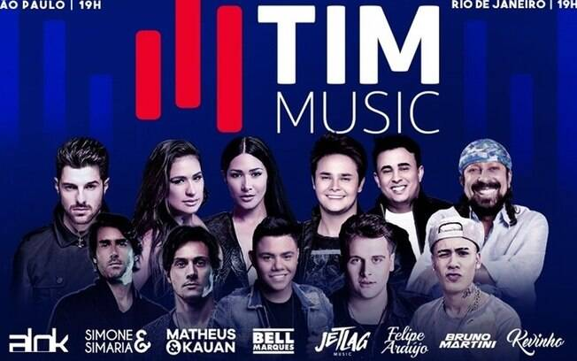 Evento terá grandes nomes como as duplas Simone & Simaria e Matheus & Kauan, Bell Marques e os DJs Alok e Bruno Martini, entre outros