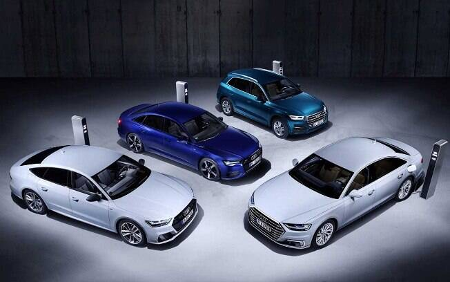 O Audi Q5, o Audi  A6, o Audi A7 Sportback e o Audi A8 estarão disponíveis em novos modelos híbrido plug-in