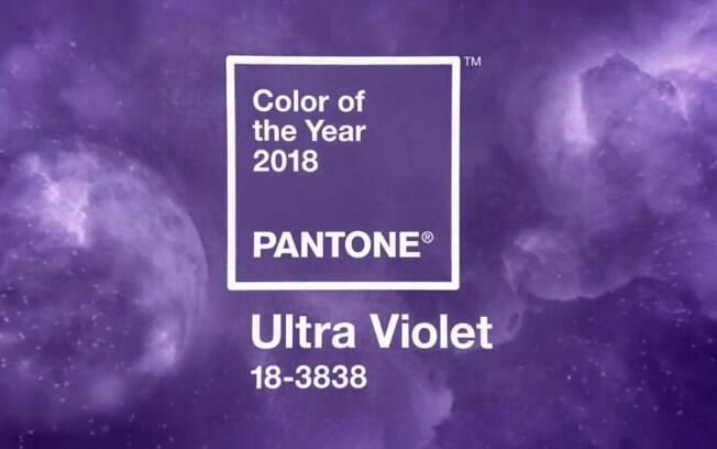 O 'Ultra Violet' foi o tom escolhido pela Pantone para representar o ano de 2018, simbolizando novos começos