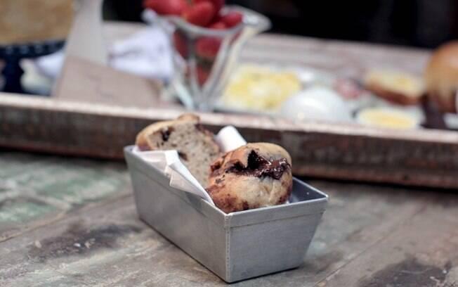 Foto da receita Pão de ameixa com chocolate pronta.