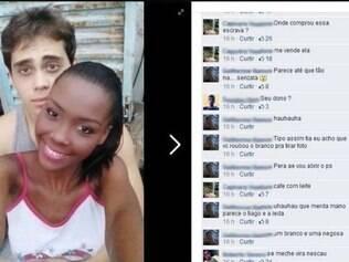 Jovem negra posta foto com namorado branco e sofre racismo no Facebook