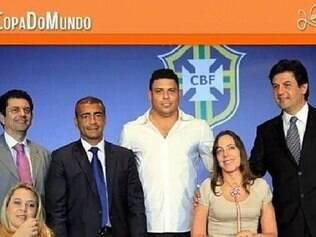 Foto postada por Romário. Na publicação, ele lembra que Ronaldo prometeu os ingressos para deficientes
