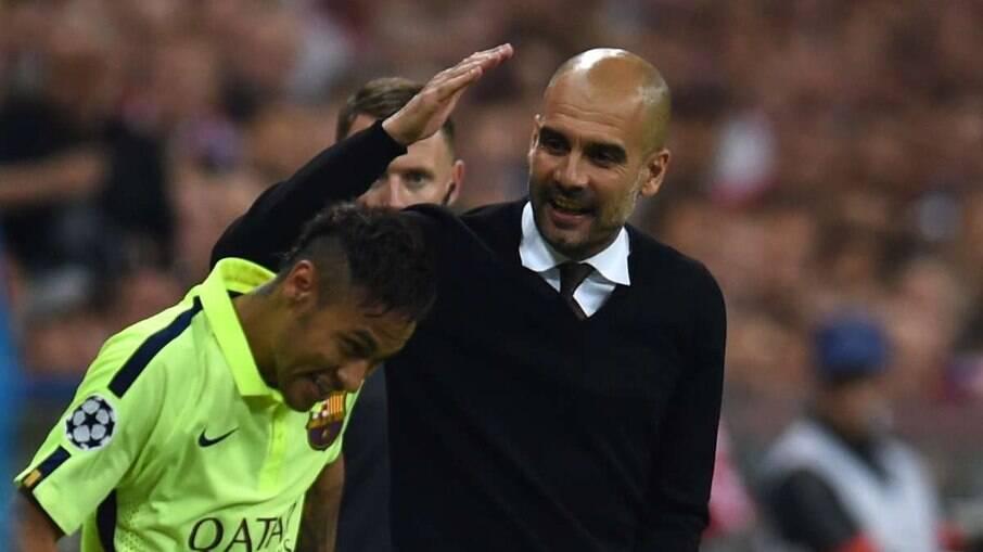 Neymar e Guardiola