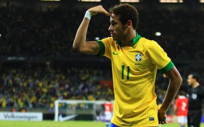 Neymar comemora segundo gol do Brasil no  Mineirão
