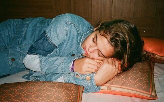 Luana Marquezine dormingo