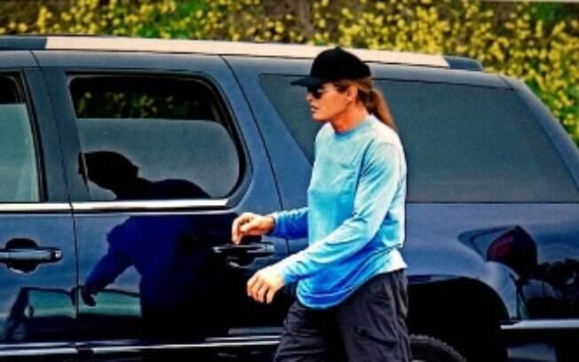 Bruce Jenner no local do acidente dia 7 de fevereiro