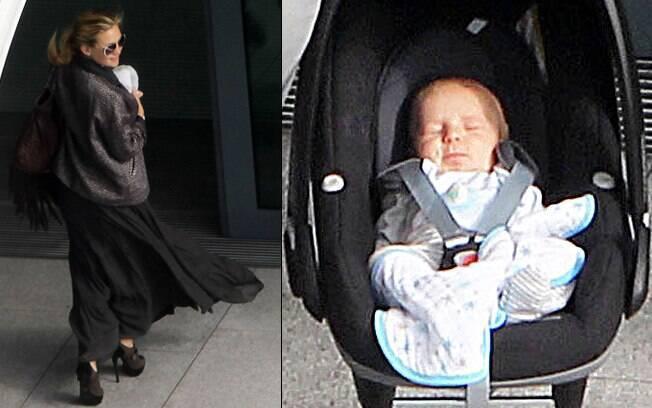 Kate Hudson e o bebê de dois meses, Bingham Hawn
