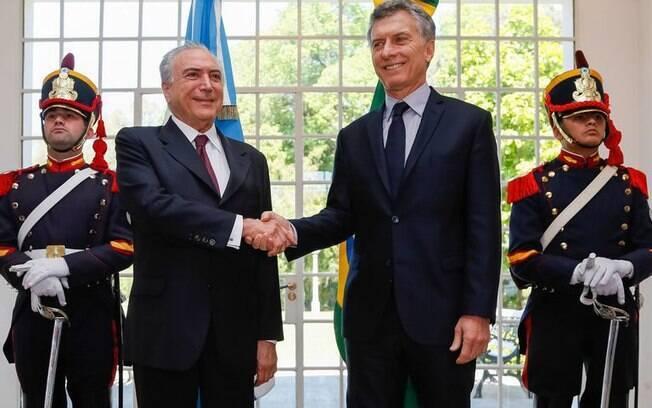 Michel Temer visitou a Argentina em outubro do ano passado; na foto, com o presidente Macri