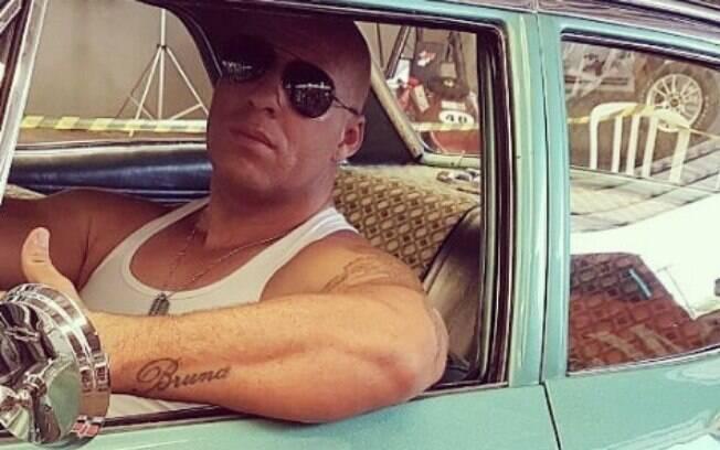 Marcos Salvo, sósia do Vin Diesel