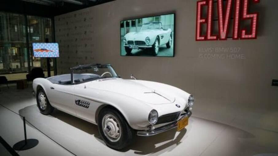 O BMW 507 de Elvis Presley foi restaurado em 2016 e faz parte do acervo do museu da marca alemã, em Munique (Alemanha)