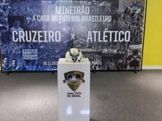 Torcedor pode fazer no painel e com a bola da final da Copa do Brasil