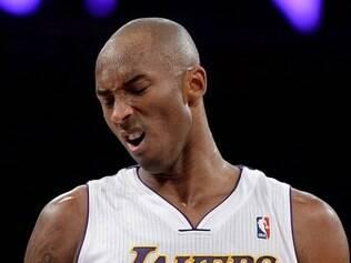 Kobe fez fez apenas nove pontos em 27 minutos e 56 segundos que esteve na quadra