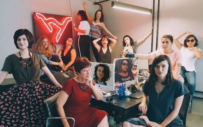 Equipe do Hysteria: projeto busca equilibrar os sets e trazer mais representatividade feminina para o audiovisual