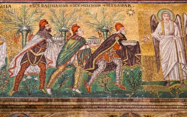 Os três reis magos em mosaico na Itália: homens que guardaram um segredo revelado