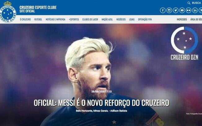 Messi no Cruzeiro