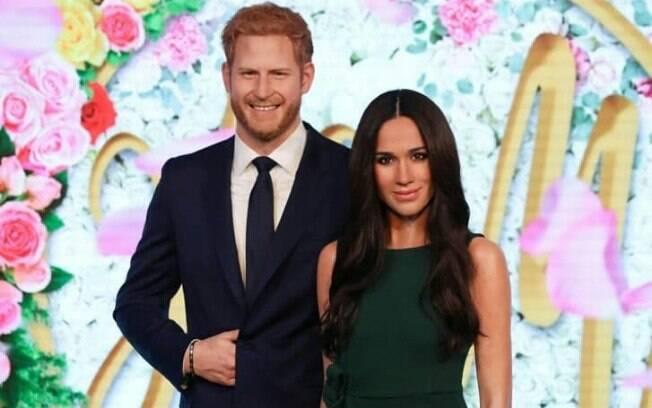 Príncipe Harry e Meghan Markle no Museu de cera da Madame Tussauds