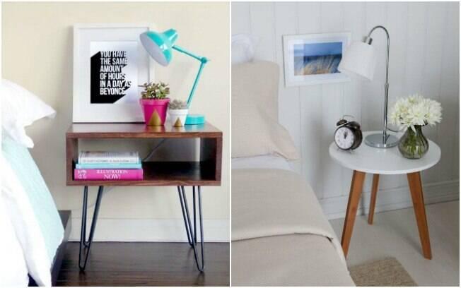 A mesa lateral também pode ser útil para substituir o criado mudo no dormitório