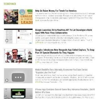 Lista de notícias no Feedly