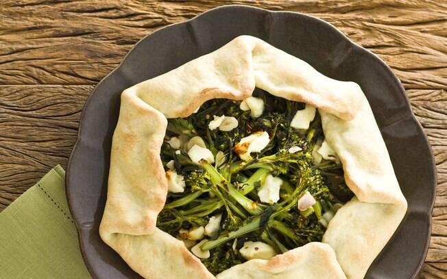 Foto da receita Galette de brócolis com queijo pronta.