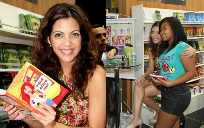 Thalita Rebouças distribuiu autógrafos na Bienal