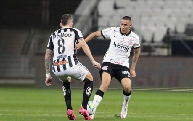 Corinthians e Santos fazem clássico ruim e terminam empatados em 1 a 1