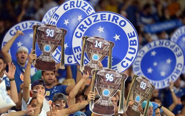 Torcida do Cruzeiro na arquibancada do Mineirão na final da Copa do Brasil.  Foto  1bfb572bab9f6