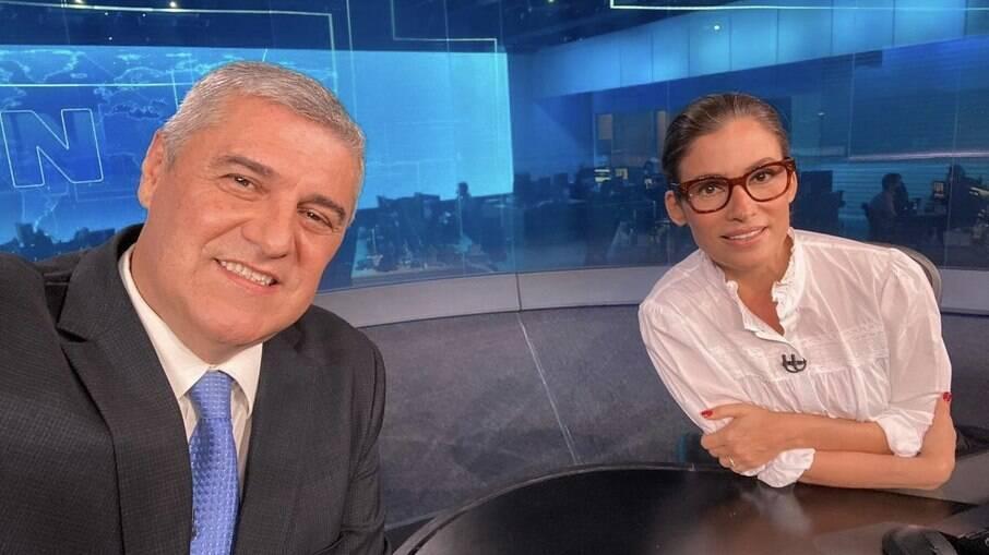 Flávio Fachel e Renata Vasconcellos