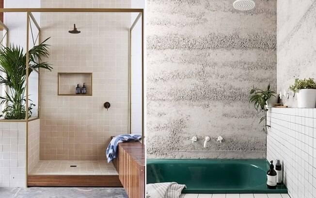 O estilo que combina plantas e outros elementos da natureza dentro de casa - também pode aparecer no banheiro