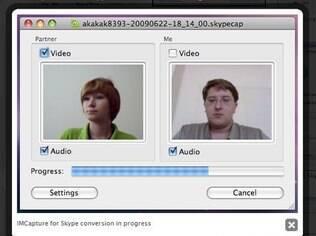 Gravador de chamadas IM Capture permite gravar imagens de apenas um dos participantes em chamadas de vídeo