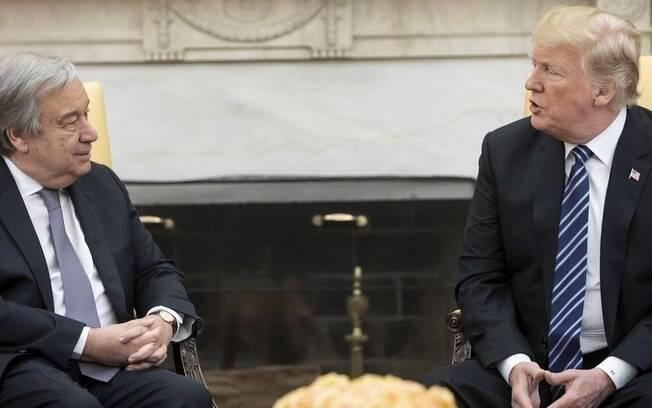 Guterres criticou a postura do presidente dos EUA, Donald Trump