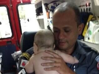 Criança foi salva por militares do Corpo de Bombeiros