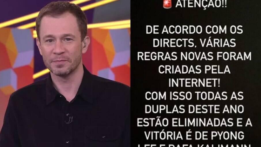 Tiago Leifert ironiza pedidos para revisar prova do líder